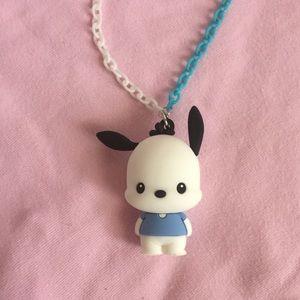 Pochacco dog puppy chain necklace handmade